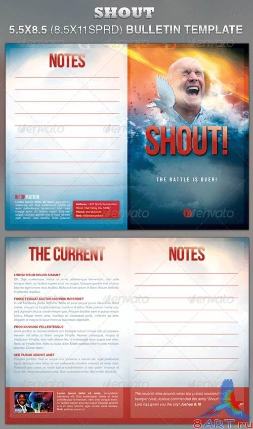GraphicRiver Shout Church Bulletin Template