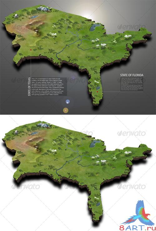 GraphicRiver USA Map - REUPLOAD