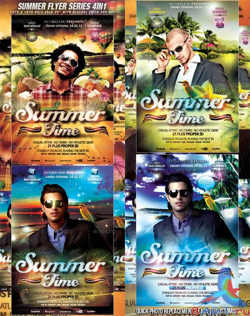 Summer Flyer Series - 4in1 PSD