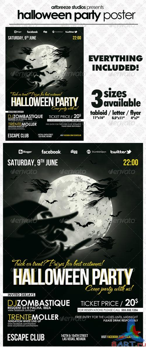 GraphicRiver Halloween Poster