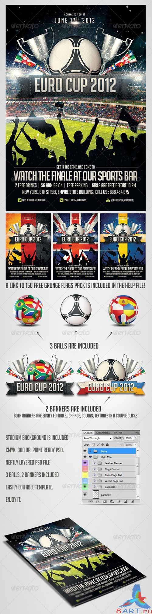 GraphicRiver Euro Soccer flyer