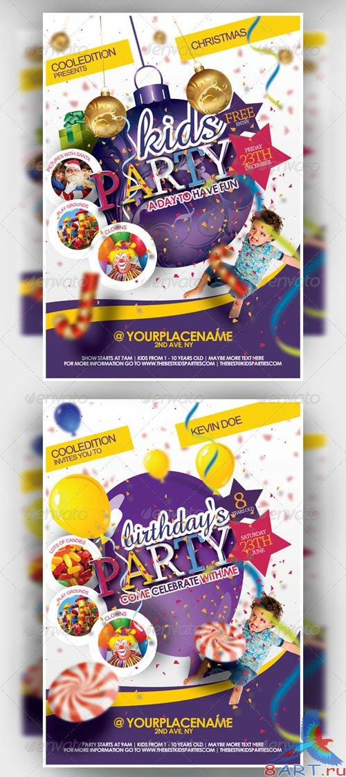 GraphicRiver Best Kids Party Flyer