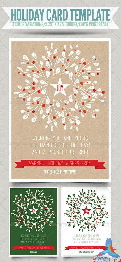GraphicRiver Holiday Card Template