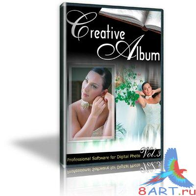 Creative Wedding Album 3 «Свадебный альбом»— PSD Design Templates