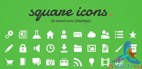 PSD Template - Square Icons 2.0