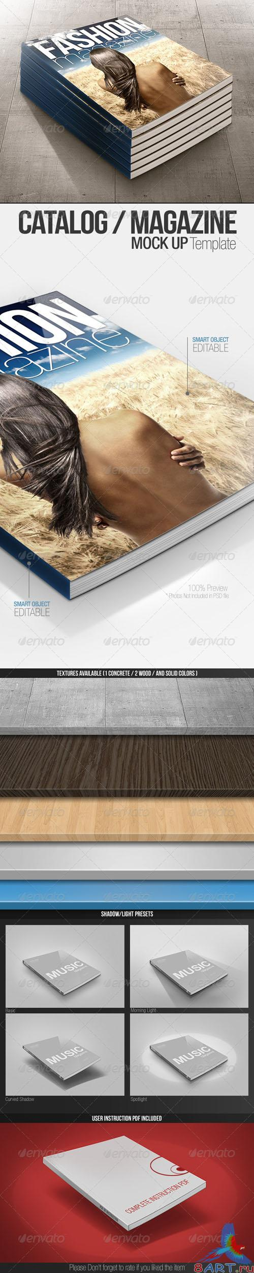 GraphicRiver - Catalog / Magazine Clean & Realistic Mock-up 1620070