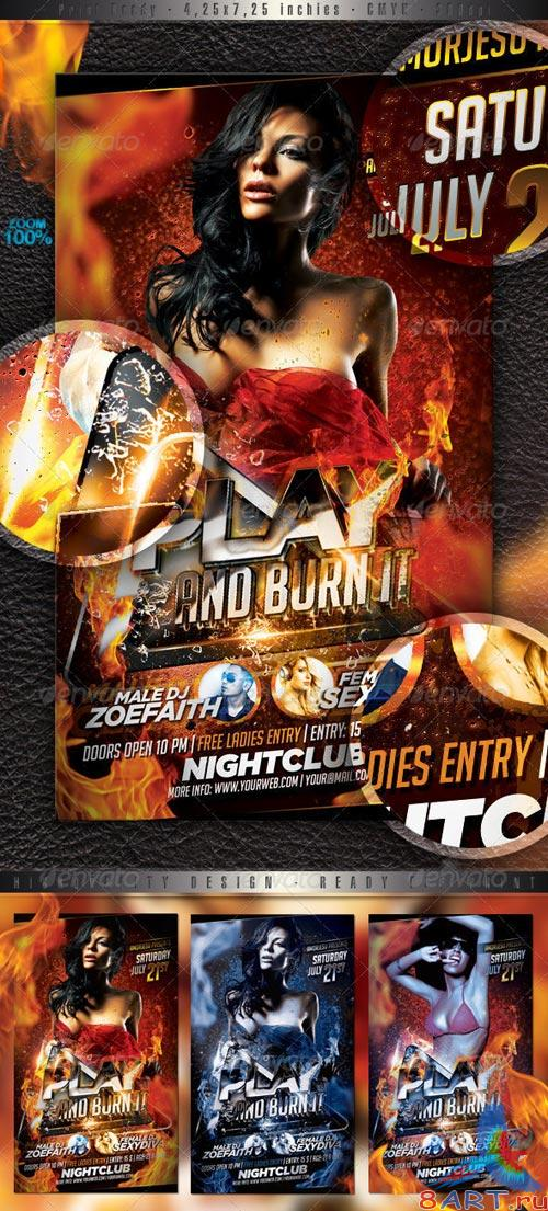 GraphicRiver Play And Burn It Flyer Template