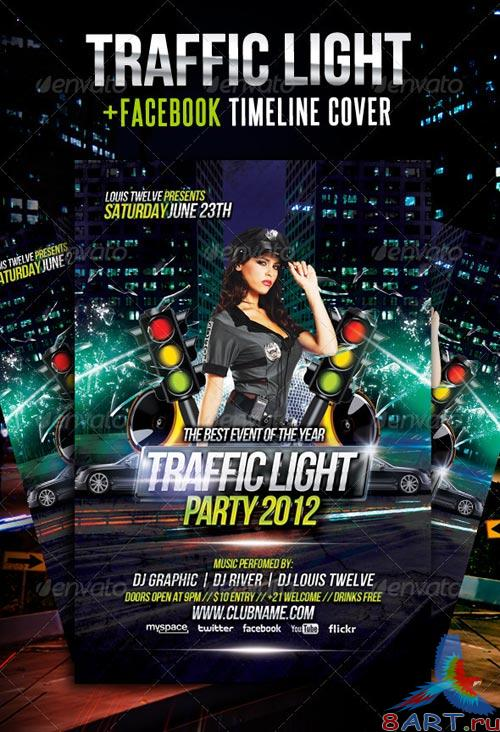 GraphicRiver Traffic Light Party Flyer + Facebook Timeline