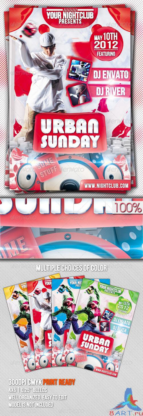 GraphicRiver - Urban Sunday Flyer Template 2325573