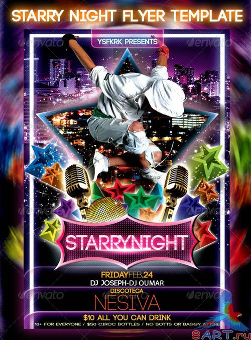 GraphicRiver Starry Night Flyer Template