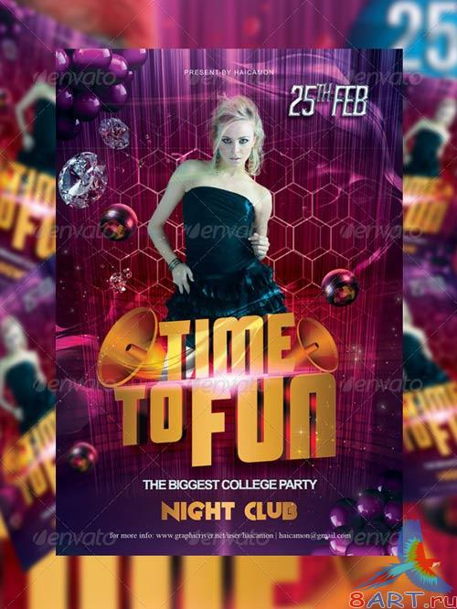 GraphicRiver Time To Fun Party Flyer