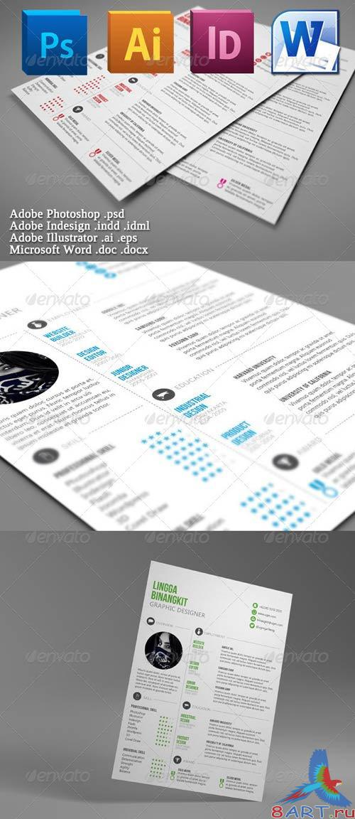 GraphicRiver Sewon Clean Resume Template