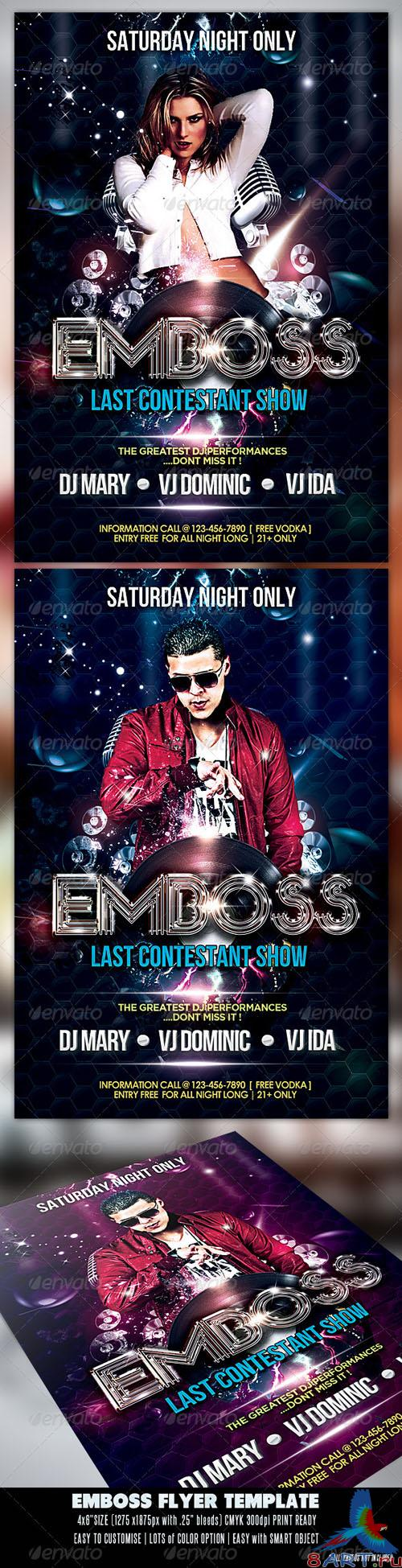 GraphicRiver - Emboss Party Flyer 2545056