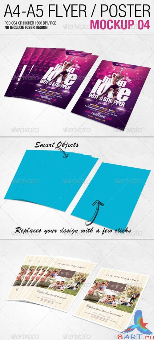 GraphicRiver A4 - A5 Flyer Mockup 04