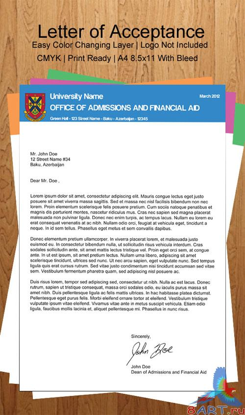 PSD Template - University Letter of Acceptance