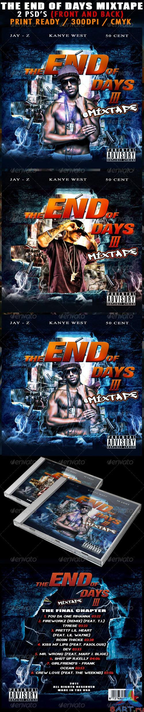 GraphicRiver - The End Of Days 3 Mixtape Cover 943067