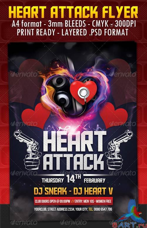 GraphicRiver Heart Attack Flyer