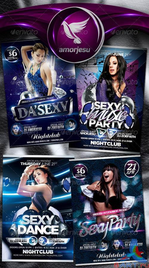 GraphicRiver Sexy Flyer Bundle Vol1 - 4 in 1