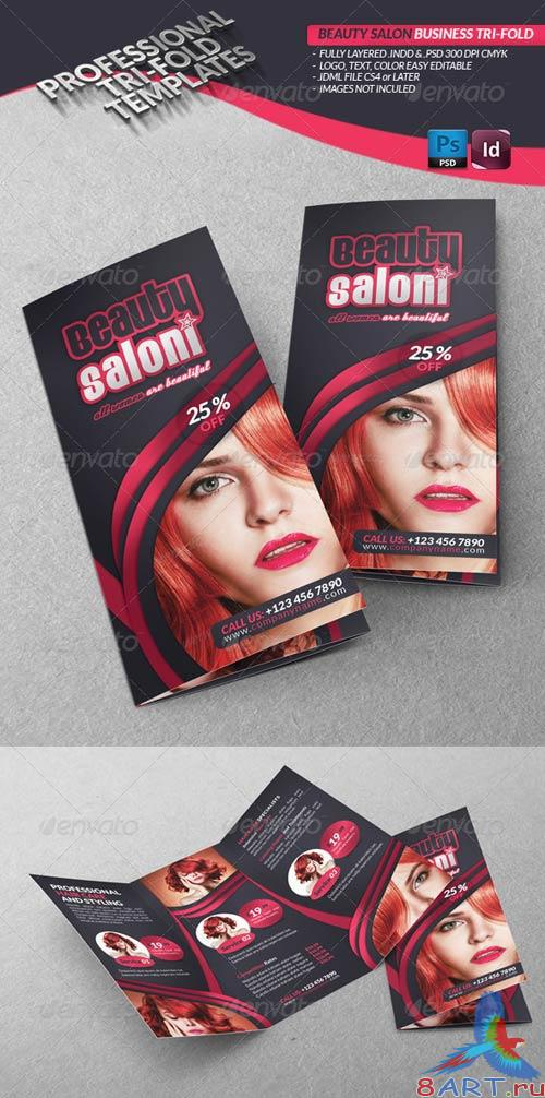GraphicRiver Beauty Salon Business Tri-Fold