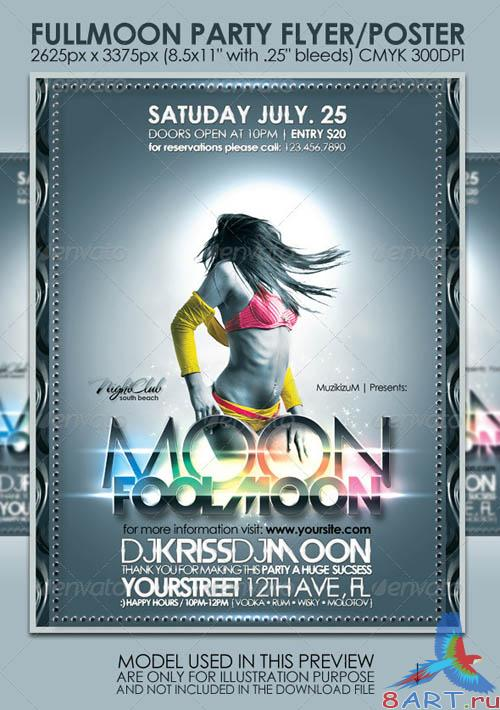 GraphicRiver Fullmoon Party Flyer/Poster