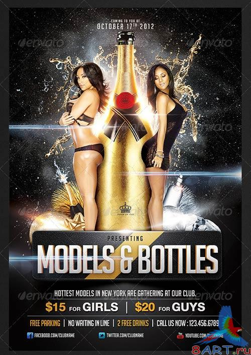 GraphicRiver Models And Bottles Flyer Template