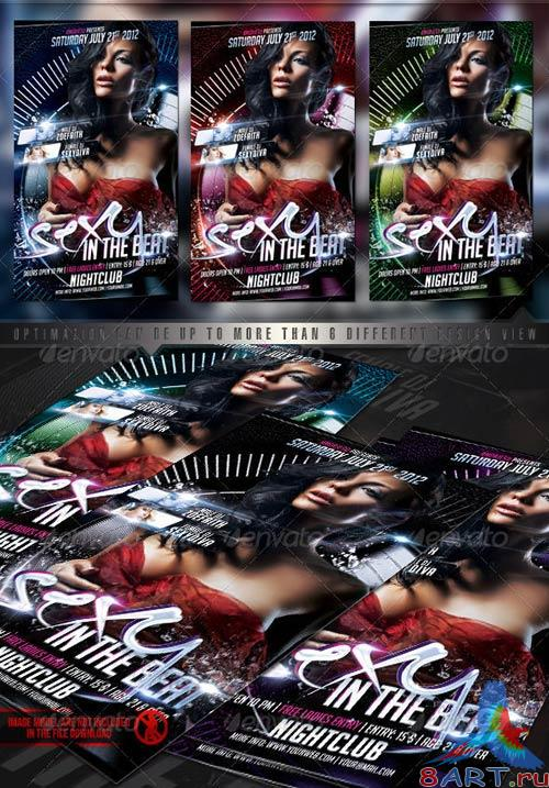 GraphicRiver Sexy In The Beat Flyer Template