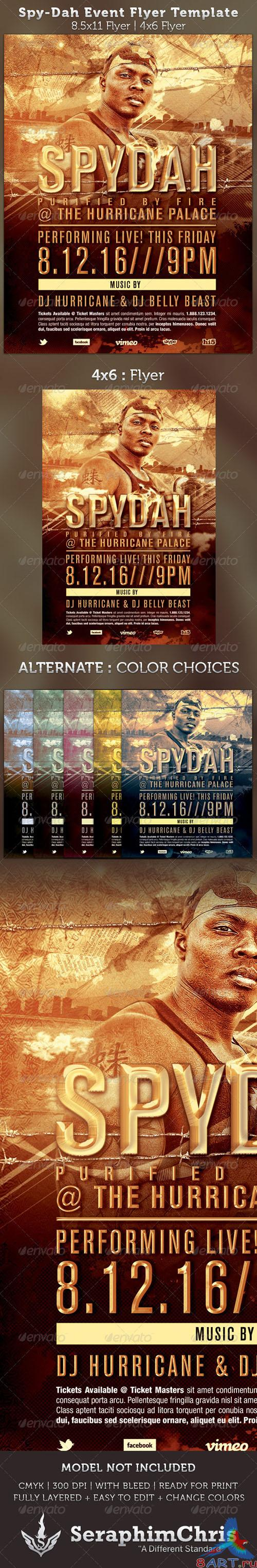 GraphicRiver - Spy-dah: Music Event Flyer Template 2561548