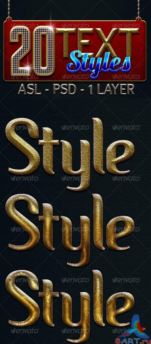 GraphicRiver 20 Text Layer Styles