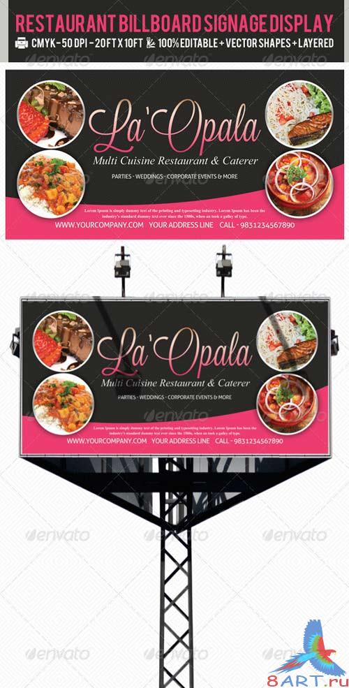 GraphicRiver Restaurant Billboard AD Signage PSD Templates