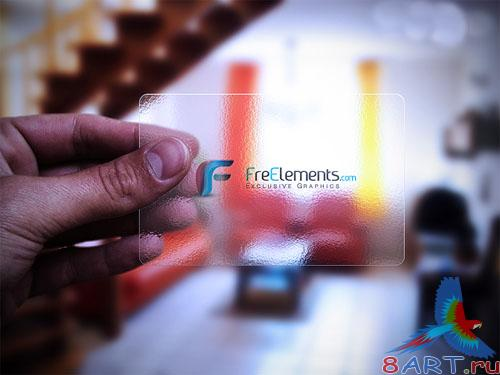 Transparent Business Card PSD Template