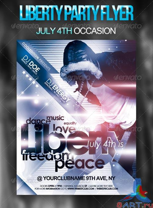 GraphicRiver Liberty Party Flyer
