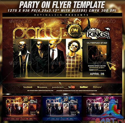 GraphicRiver Party On Flyer Template