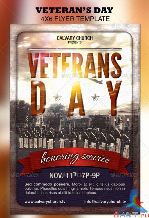 GraphicRiver Veterans Day Church Flyer