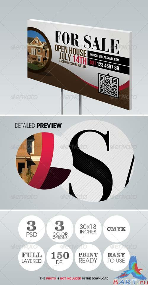 GraphicRiver Modern Real Estate Yard Signage 1