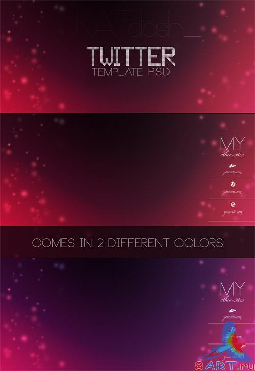 PSD Template - Twitter Backgrounds