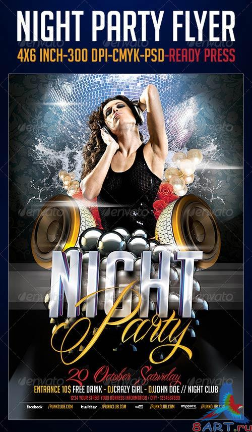 GraphicRiver Night Party Flyer Template