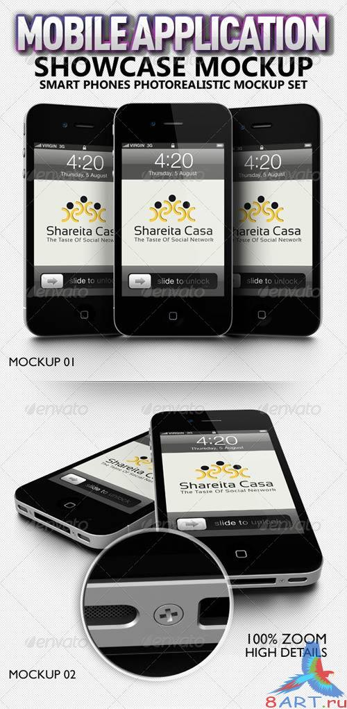 GraphicRiver Mobile Application Showcase Mockup