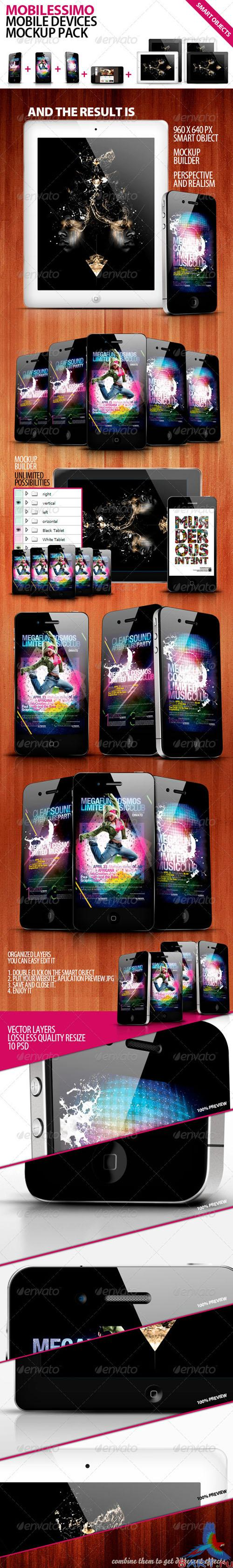 GraphicRiver - Mobilisimo Mobile Phone & Mobile Pad Mock-ups 400964