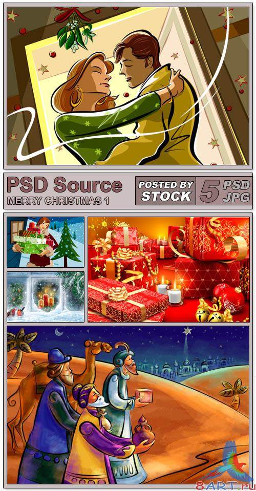 PSD Source - Merry Christmas 1