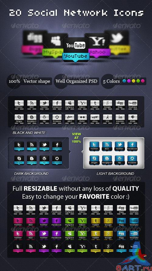 GraphicRiver Awesome Social Network Icons - REUPLOAD