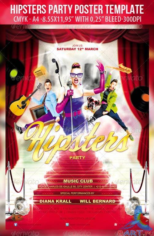 GraphicRiver Hipsters Party - Poster Template & Hipsters Party