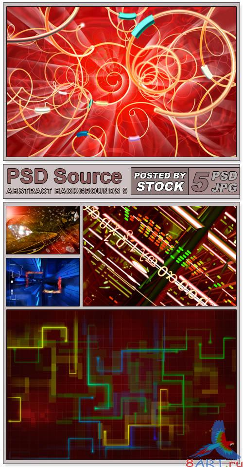 Layered PSD Files - Abstract backgrounds 9
