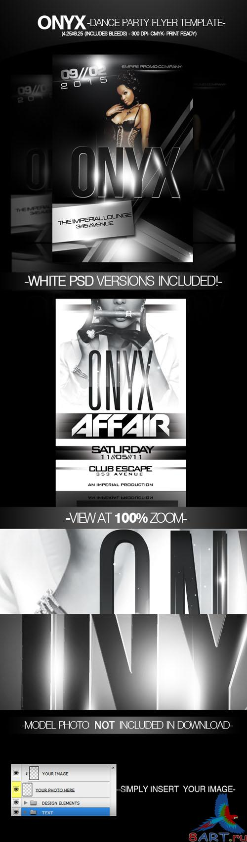 PSD Template - Onyx Party Flyer/Poster
