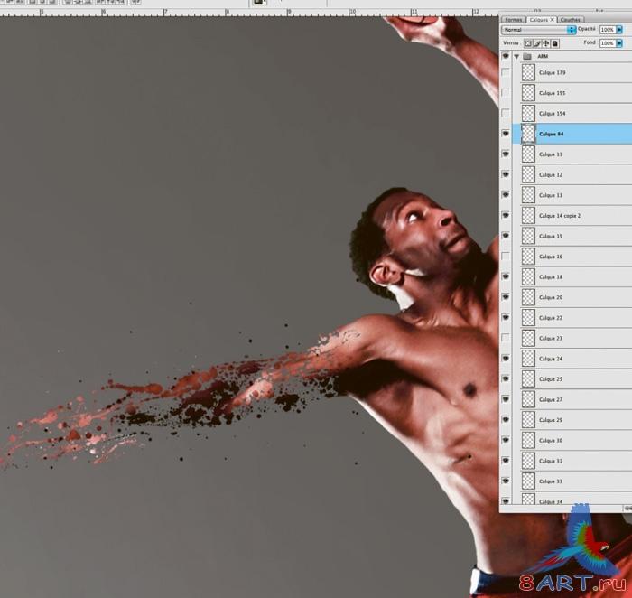 Как сделать в фотошопе эффект от движения